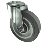 Medium Duty Castors with grey rubber tyred wheel on nylon centre