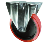 Medium duty polyurethane tyre castors plate fixing